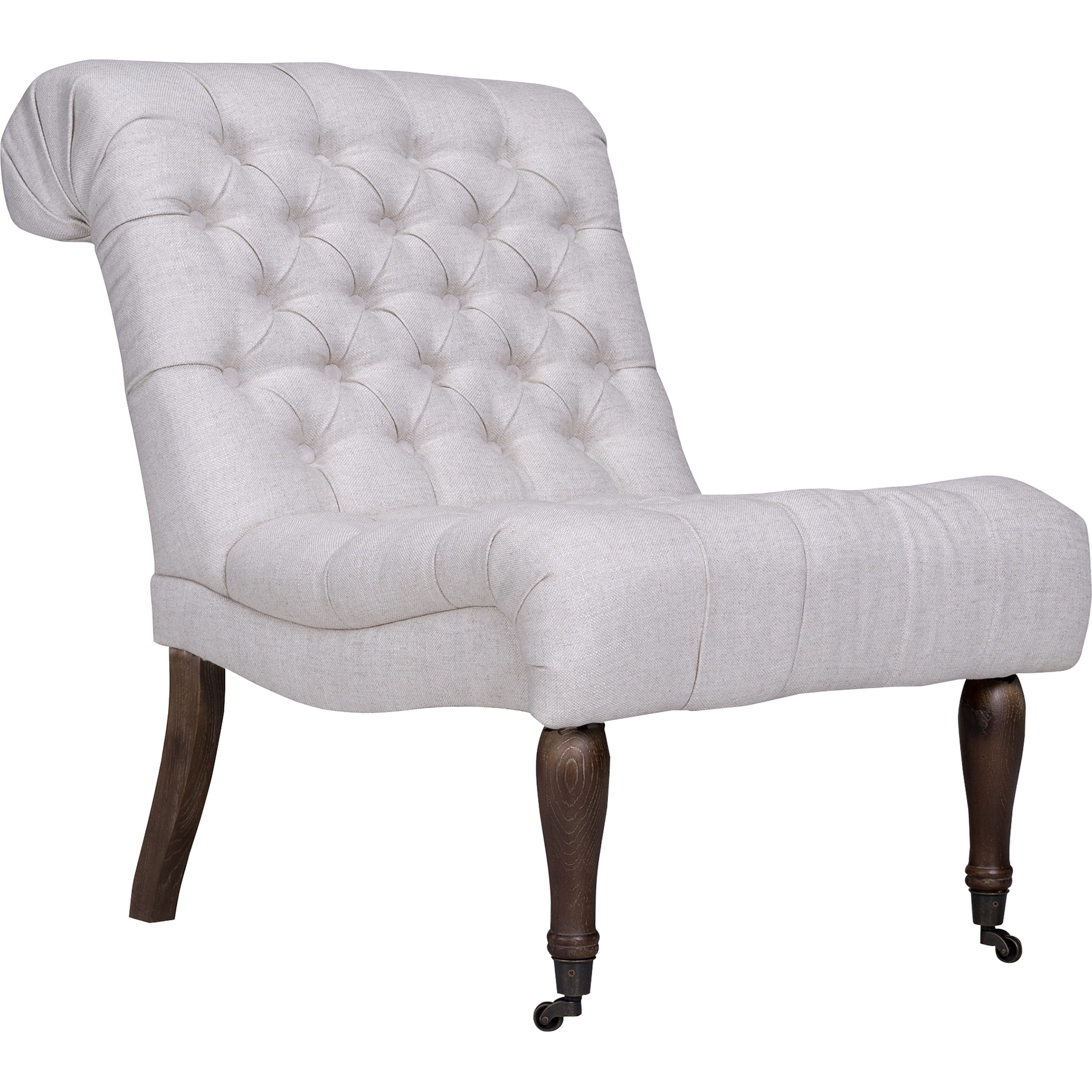 Braxton Armless Slipper Chair   Button Tufted, Brussels Linen    OHF 3754 01BRULIN ...