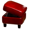 Madrid Storage Ottoman - Nail Heads, Santiago Red Leather - OHF-2415-06SANRED