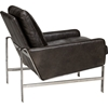 Lucas Leather Chair - Shalimar Grigio - OHF-483-01SHLGRG