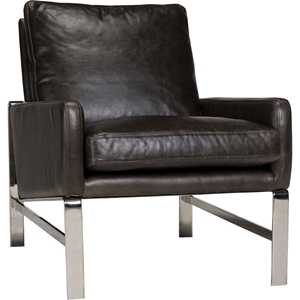 Lucas Leather Chair - Shalimar Grigio