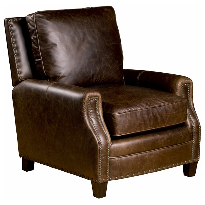 Bradford II Club Chair - Nail Heads, Coventry Brown Leather - OHF-2530-01COVBRW