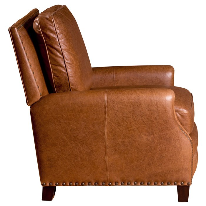 Bradford II Club Chair - Nail Heads, Coventry Saddle Leather - OHF-2530-01COVSAD