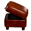 Max Storage Ottoman - Welting, Cognac Leather - OHF-550-06TRIACOG