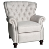 Cambridge Reclining Chair - Tufted, Brussels Linen Fabric