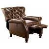 Cambridge Reclining Chair - Tufted, Coventry Brown Leather - OHF-2568-10COVBRW
