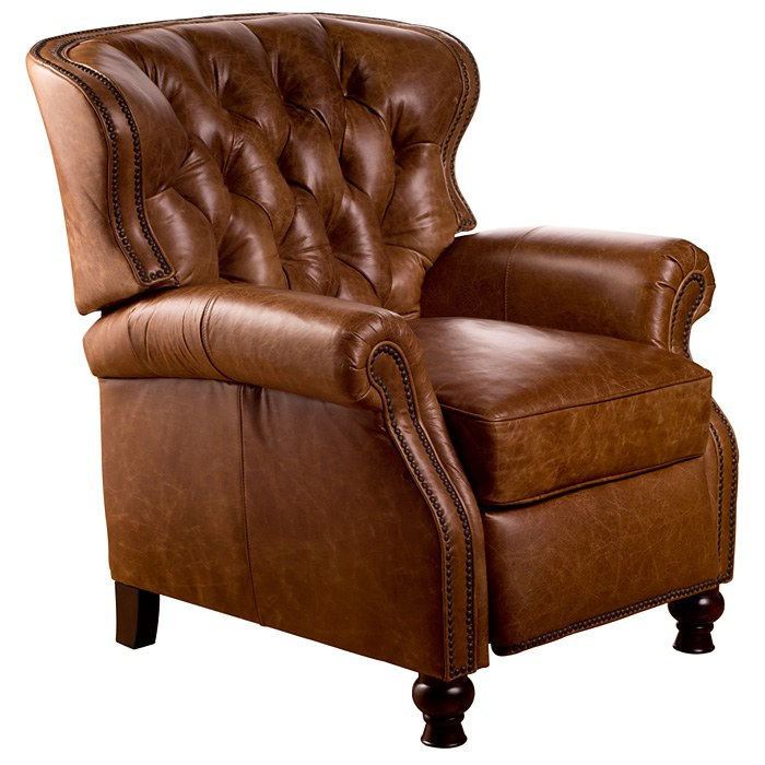 Cambridge reclining chair tufted coventry saddle leather dcg