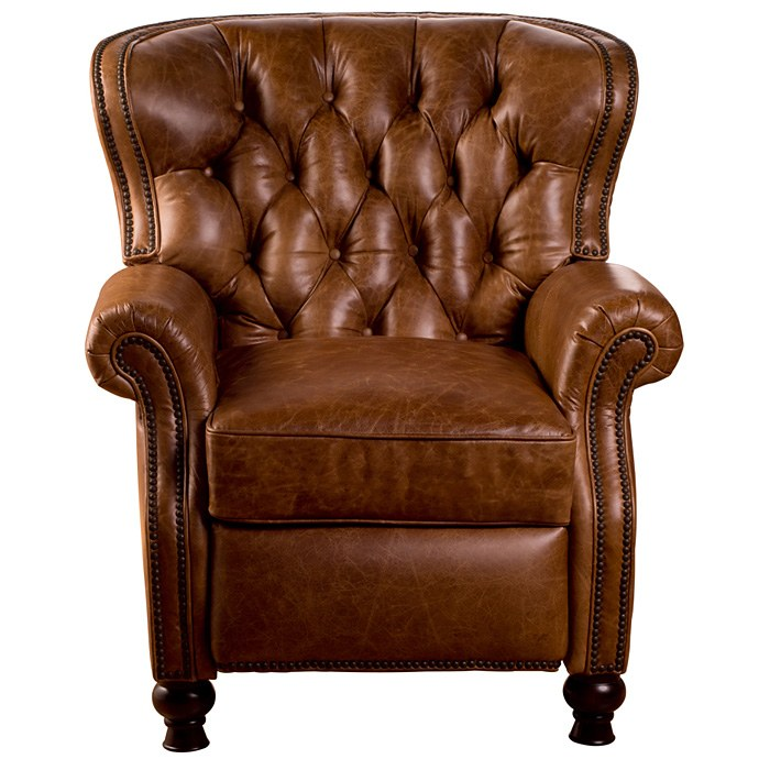 Cambridge Reclining Chair - Tufted, Coventry Saddle Leather - OHF-2568-10COVSAD