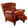 Cambridge Reclining Chair - Tufted, Barstow Cognac Leather - OHF-2568-10BARCOG