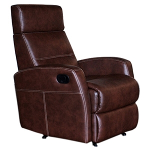 Oslo Recliner Chair - Contrast Stitching, Countess Mocha Leather