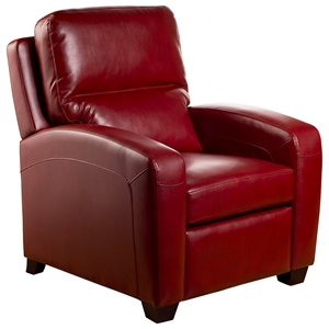 Brice Contemporary Recliner Chair - Emerson Red Leather