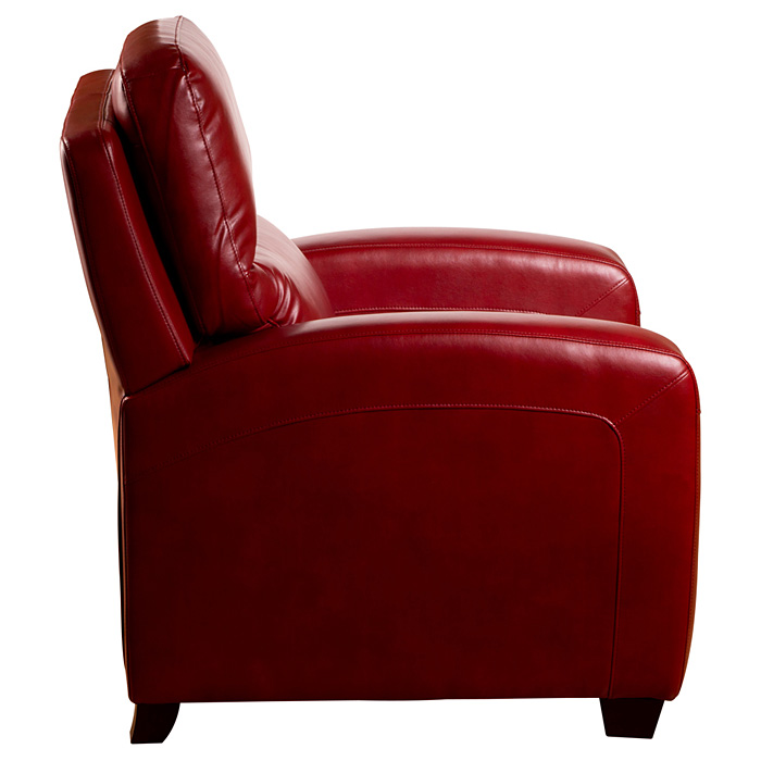 Brice Contemporary Recliner Chair - Emerson Red Leather - OHF-738-10EMRRED