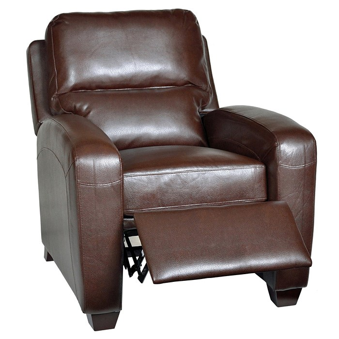 Brice Contemporary Recliner Chair - Harlee Brown Leather - OHF-738-10HARBRW