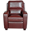 Brice Club Leather Recliner Chair - Harlee Dark Red - OHF-738-10HARRED