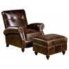Benjamin Ottoman - Turned Legs, Barstow Cognac - OHF-2821-06BARCOG