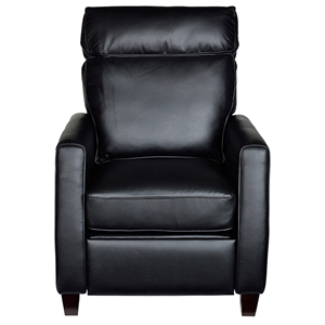 Florence Reclining Armchair - Royal Black Leather