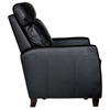Florence Reclining Armchair - Royal Black Leather - OHF-8645-10ROYBLK