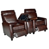 Florence 3 Piece Home Theater Seating - Royal Auburn Leather - OHF-8645-22ROYAUB