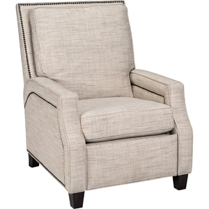Peyton Fabric Recliner - Nailhead, Malin Button Jar