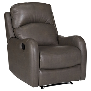Galen Leather Recliner - Bravo Ash