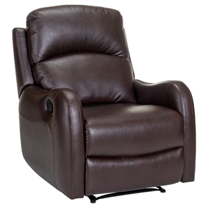 Galen Leather Recliner - Bravo Cocoa
