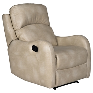 Galen Leather Recliner - Bravo Parchment