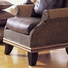 Bali Wingback Lounge Chair - Cushion, Rattan Weave - PAD-255-1