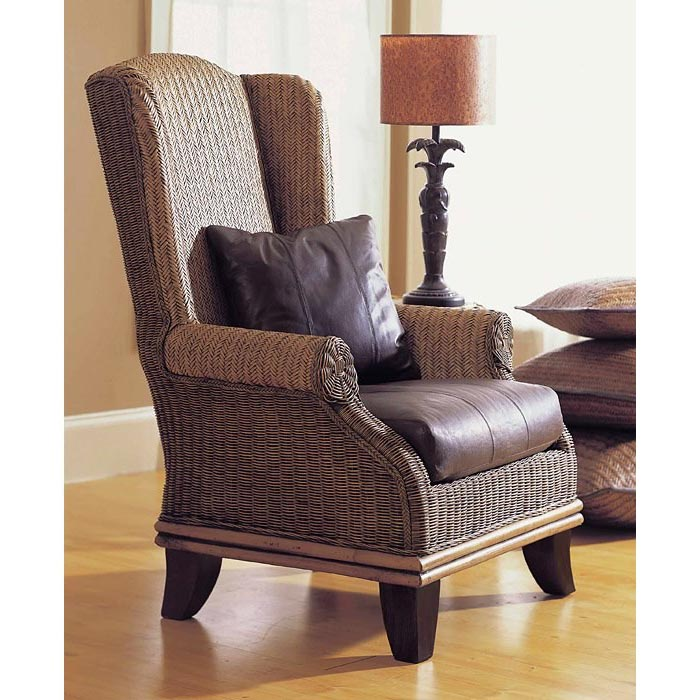 Bali Wingback Lounge Chair Cushion Rattan Weave Dcg