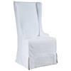 Atlantic Beach Dining Chair - Sun Bleached White Linen Slipcover - PAD-ATL12-SBW