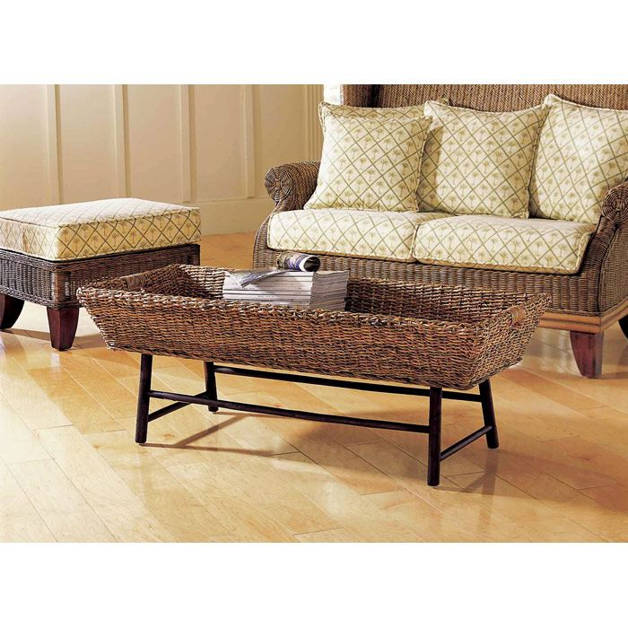 Basket Coffee Table - Basket Weave Abaca - PAD-BCT05