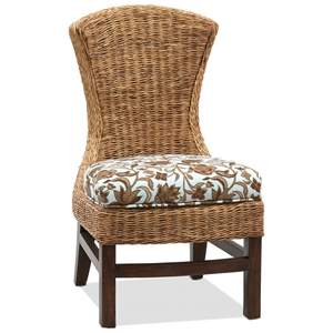 Bahama Breeze Side Chair - Cushion, Flat Weave Abaca