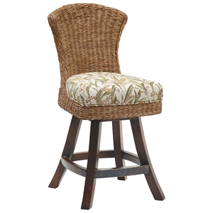Bahama Breeze 25.5 Swivel Counter Stool - Flat Weave Abaca