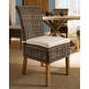 Boca Dining Chair White Cushion Gray Kubu Rattan Wicker Pad Boc12