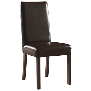 Monaco Upholstered Dining Chair - Dark Brown Leather