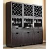 Modulare Wooden Wine Cabinet Dark Mahogany