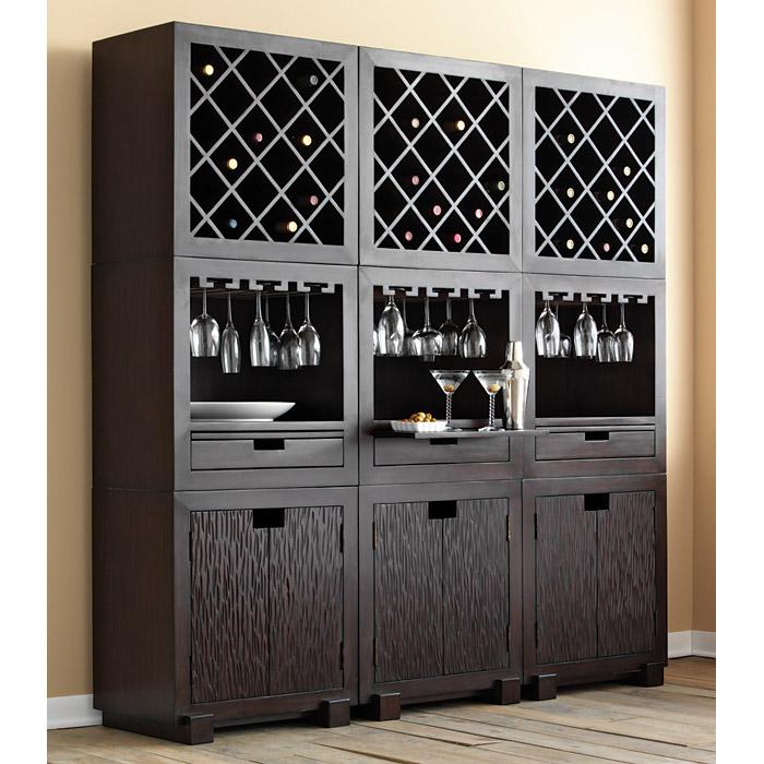 Dark Mahogany Kitchen Cabinets: Modulare Wooden Wine Cabinet - Dark Mahogany
