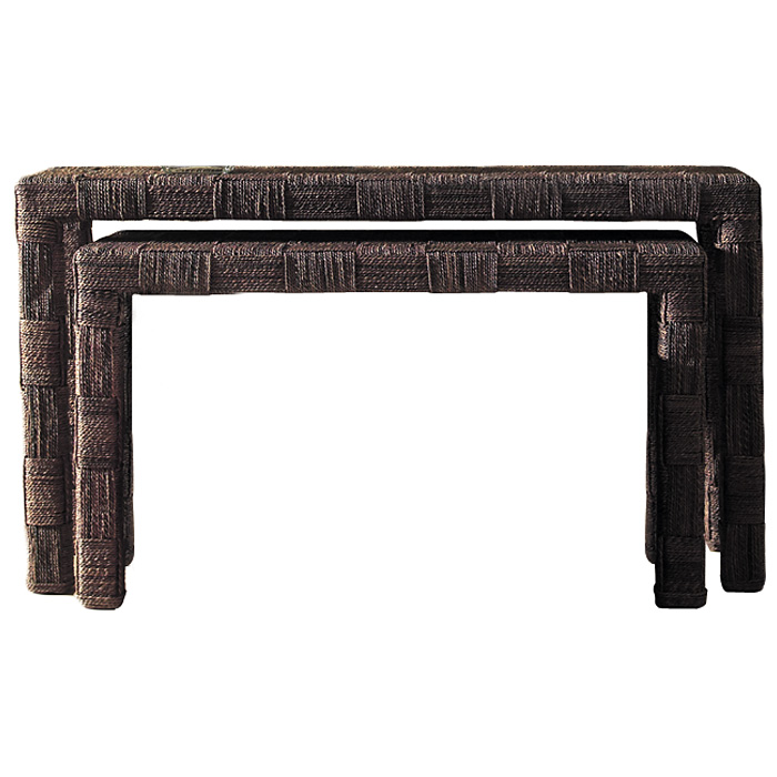 Nesting Console Tables Set Abaca Twist DCG Stores