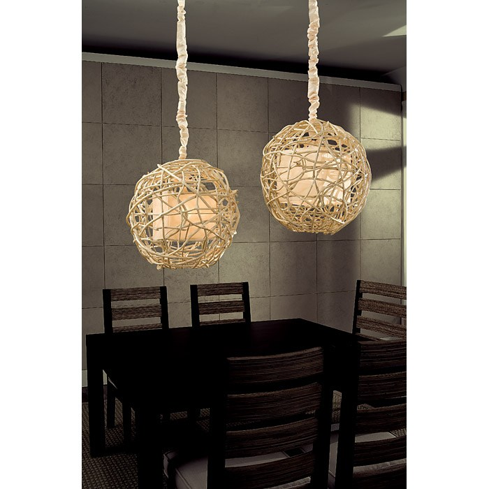 Nile Vine Hanging Lamp - Natural, Sphere - PAD-NIL22-SPR