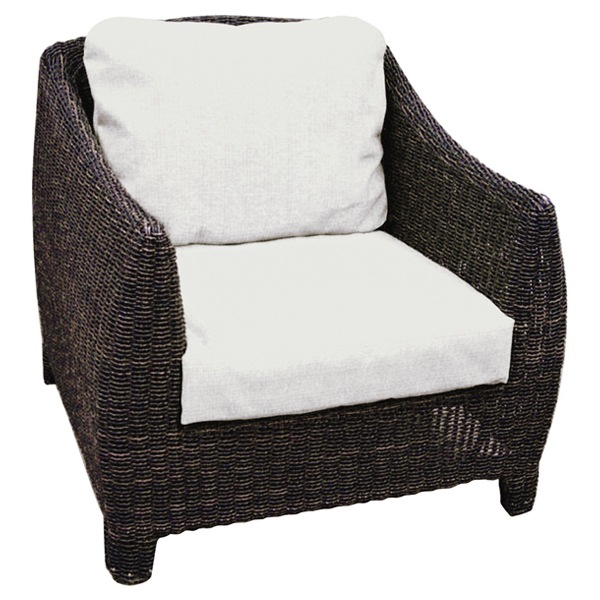 Outdoor Bay Harbor Wicker Lounge Chair   Fabric Cushion   PAD OL BAH01 ...