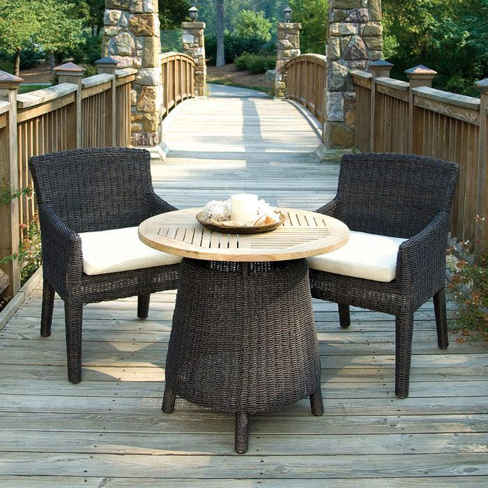 Outdoor Bay Harbor Wicker Dining Armchair - Fabric Cushion - PAD-OL-BAH11