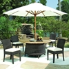 Outdoor Bay Harbor Dining Table - Teak Wood, Brown Wicker - PAD-OL-BAH13-60R