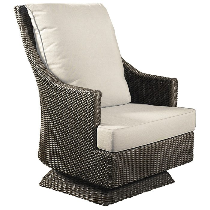 Outdoor Cabana Swivel Rocking Chair All Weather Wicker