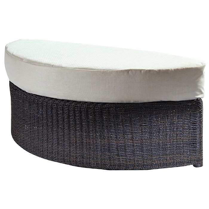 Outdoor Haven Half Moon Wicker Ottoman Fabric Cushion Pad Ol Hvn02