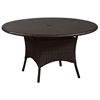 Outdoor Malaga Round Patio Table - Chocolate Wicker - PAD-OL-MAL05