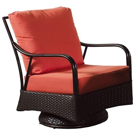 Outdoor Malaga Swivel Rocking Chair Cushions Wicker DCG Stores