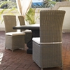Outdoor Nico Dining Chair - White Cushion, All-Weather Wicker - PAD-OL-NCO12-ECO