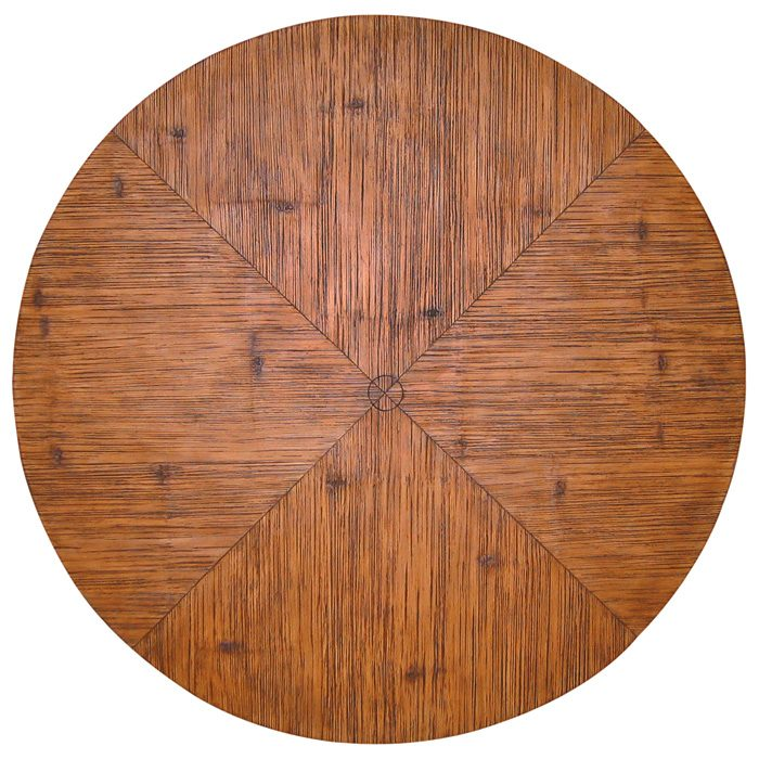 "60"" Round Chat Table - Cast Stone, Crushed Bamboo Detail - PAD-OL-OCBTOP-60-OL-VST05BASE"