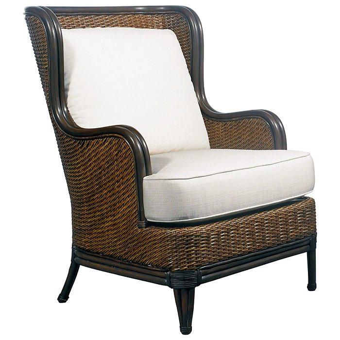 Palm Beach Outdoor Wing Chair Cushions Rattan Weave