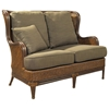 Palm Beach Outdoor Wing Loveseat - Cushions, Rattan Weave - PAD-OL-PLB03