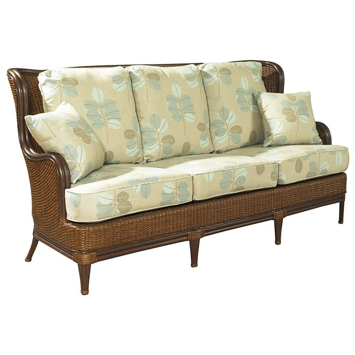 Palm Beach Outdoor Wing Sofa - Cushions, Rattan Weave - PAD-OL-PLB04
