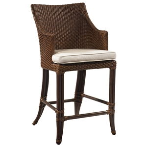 "Palm Beach Outdoor 26.5"" Counter Stool - Cushion, Rattan Weave"